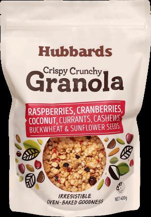 Hubbards Raspberry, Cranberry & Coconut Granola