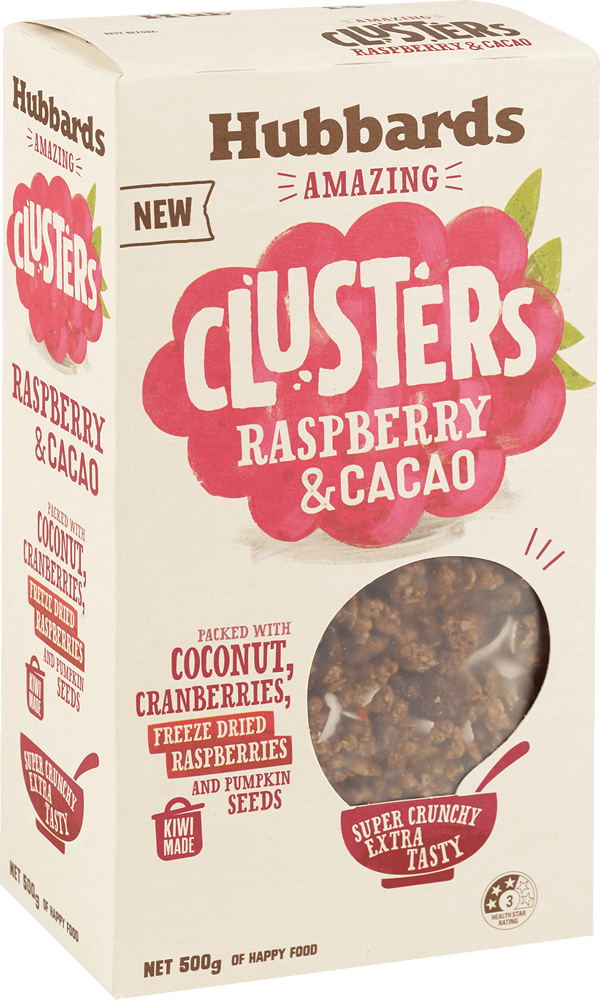 Hubbards RASPBERRY AND CACAO CLUSTER Muesli