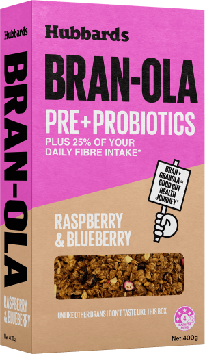 Hubbards Raspberry and Blueberry Bran-ola